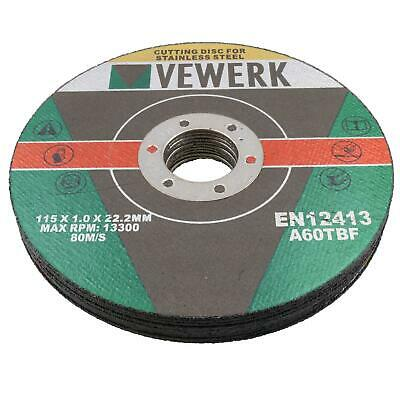"""£6.10 • Buy 1mm Stainless Steel Cutting Discs Metal Cutter Blade Discs 4-1/2"""" Angle Grinders"""