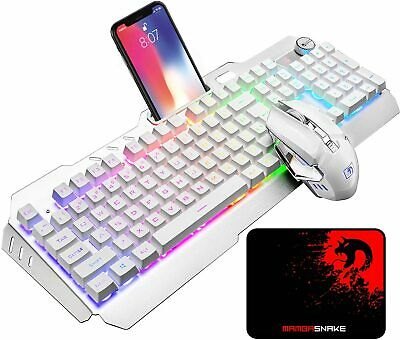 AU67.89 • Buy Wireless Gaming Keyboard And Mouse Combo Set RGB Backlit For PC Laptop PS4 Xbox