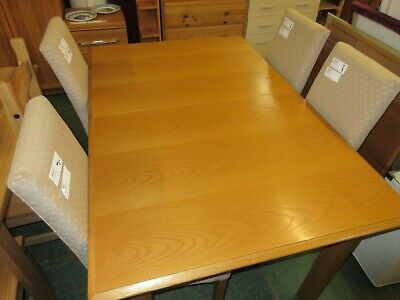 £85 • Buy M&S Extending Dining Table Light Oak Finish With 6 Upholstered Chairs