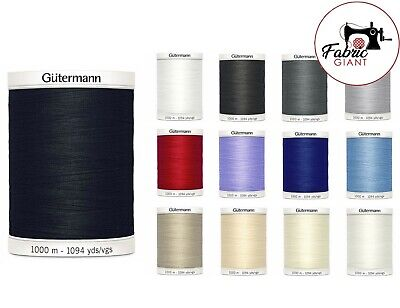 £9.77 • Buy Gutermann Sew All Thread 1000m Reel - Sewing - All 13 Colours Available