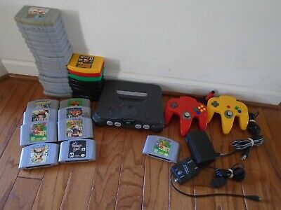 AU223.02 • Buy 35 Nintendo 64 Games, 2 Controllers, Cables, N64 Console, Mario Party READ