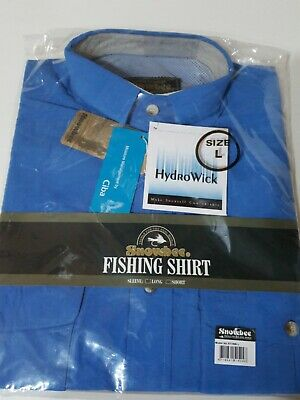 AU16.53 • Buy BNWT Snowbee Fishing Shirt In Blue Size Large Long Sleeved