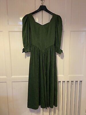 £60 • Buy Vintage Laura Ashley Edwardian Style Midi Dress Size 10 In Excellent Condition