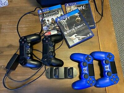 AU350 • Buy Sony PS4 Playstation 4 1TB Bundle W/ 4 Controllers, Charging Dock & 3 Games