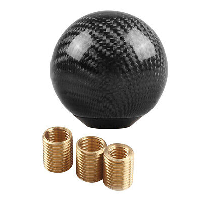AU30.11 • Buy Car Gear Shift Knob Shifter Lever Round Ball Shape Carbon Fiber With Adapters