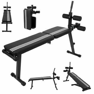 £0.10 • Buy Foldable Dumbbell Bench Adjustable Weight Training Fitness Incline Workout Heavy