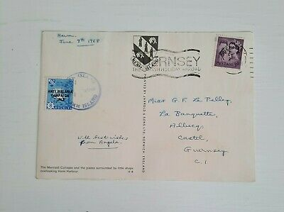 £12 • Buy 1968 Herm Island Guernsey Stamp On Postcard. 8 Doubles. Anti Malaria Campaign