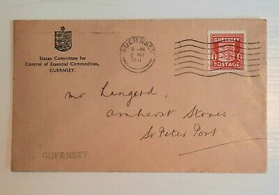 £11 • Buy 1941 Guernsey Occupation Stamp On States Food Control Envelope. With ERROR See W