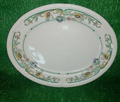 £3.99 • Buy Antique Churchill  Super Vitrified Floral Oval Serving Plate Meat Platter