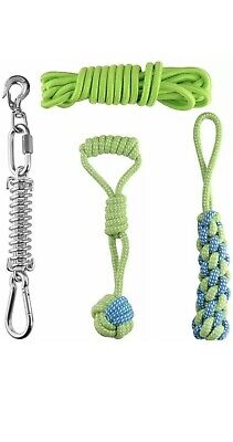 £25 • Buy Hj ANG Outdoor Stainless Steel Spring Pole Hanging Bungee Exercise Dog Rope Toys