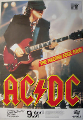 $89.95 • Buy Ac/dc Concert Tour Poster 1991 The Razors Edge Angus Young