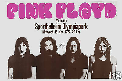 $12 • Buy 1970's Rock:   Pink Floyd At  West Germany Fair Concert Tour Poster 1972  18x12