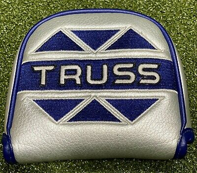 £18.83 • Buy TaylorMade Truss Mallet Putter Cover Headcover Silver/Blue MINT #75667