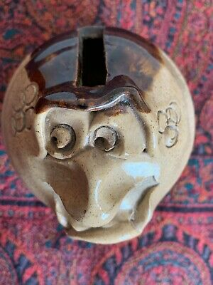 £1 • Buy Unusual Vintage Retro 'pretty Ugly Pottery' Made In Wales - Money Box - Marked