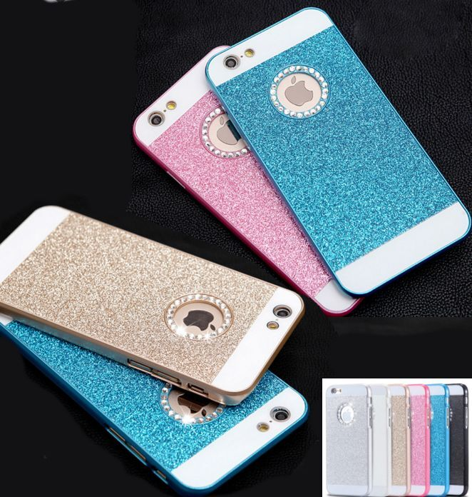 53ea2a21f8b Funda Para Apple Iphone 5-5S, 6-6S, 6plus+ Rígida Purpurina Brillante