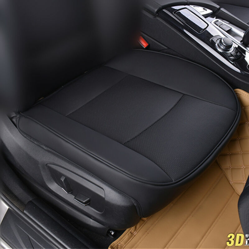 $ CDN23.69 • Buy PU Leather Deluxe Car Cover Seat Protector Cushion Black Front Cover Universal