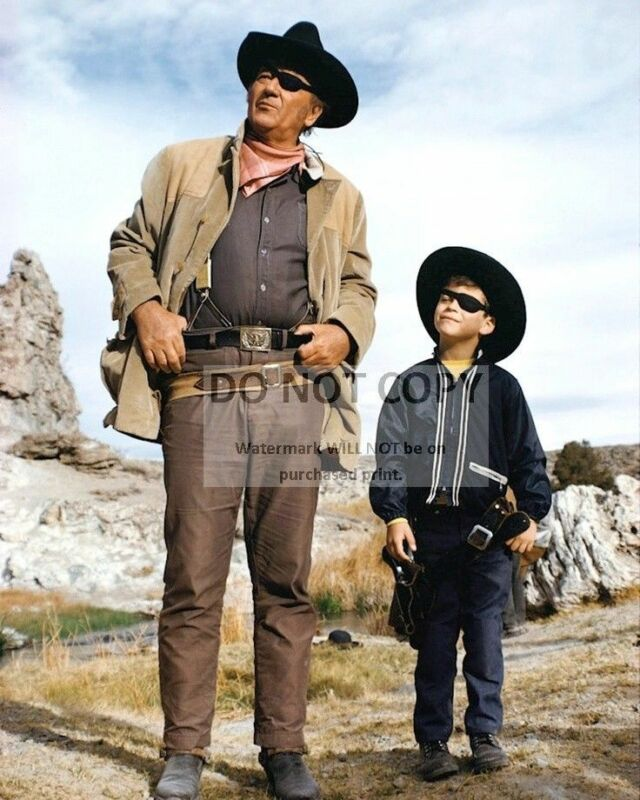 $7.54 • Buy John Wayne & Son Ethan On The Set Of  True Grit  - 8x10 Publicity Photo (cc653)