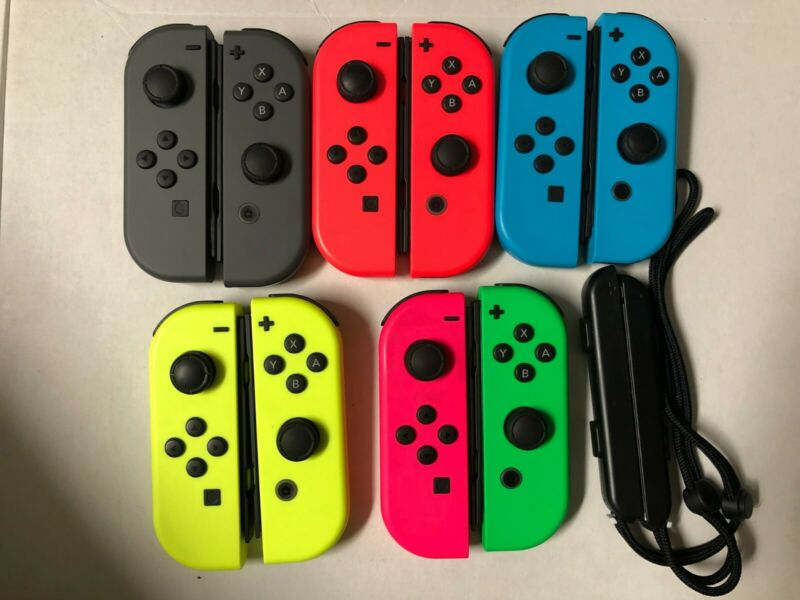 $32.99 • Buy Nintendo Switch Joy Con Single Neon Blue/Red/Yellow/Pink/Green & Gray- Pro Contr