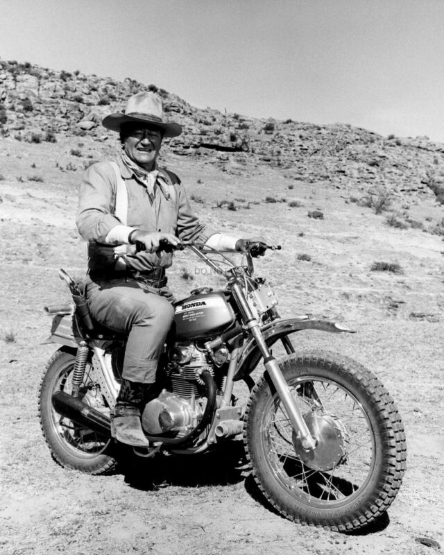 $7.54 • Buy John Wayne Rides Honda Motorcycle On The Set Of  Big Jake  - 8x10 Photo (oc001)
