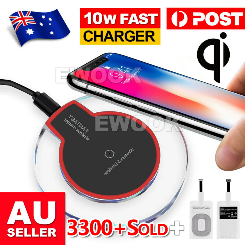 AU9.95 • Buy For APPLE IPhone 11 Pro XS Samsung S9 S10 QI Wireless Charger Charging Pad Mat