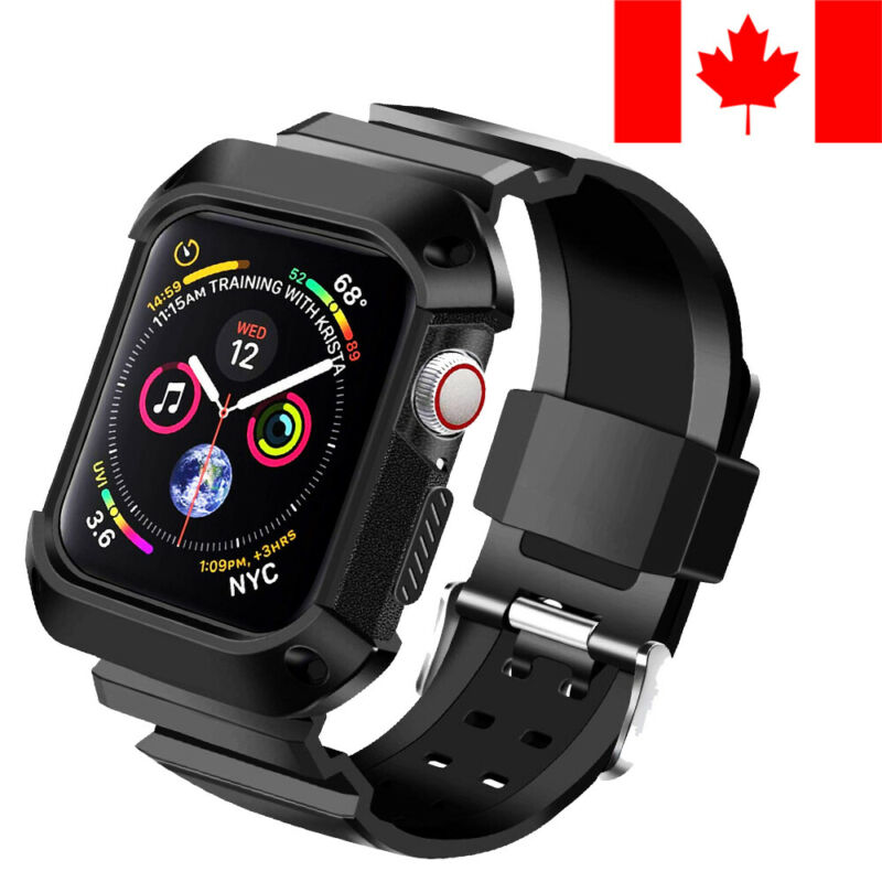$ CDN11.99 • Buy Sport Replacement Band Shockproof Case For Apple Watch Series 1 / 2 / 3 / 4 / 5