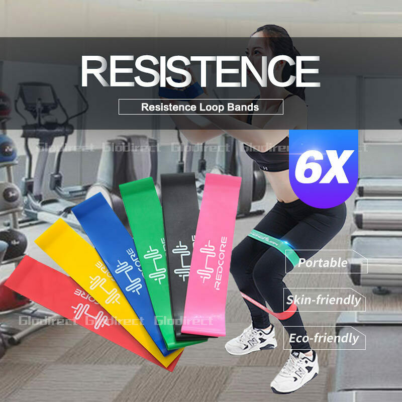 AU9.95 • Buy 6PCS Resistance Bands Power Strength Exercise Fitness Gym Crossfit Yoga Workout