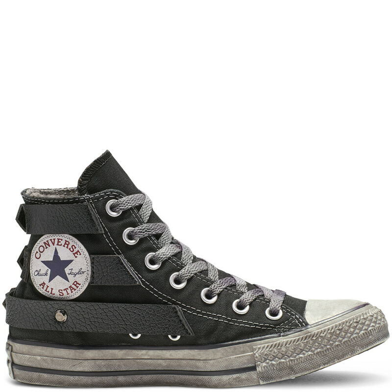 2converse all star nera borchiate