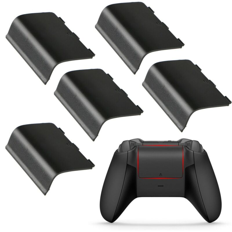 $5.90 • Buy 5 Xbox One Battery Cover Back Lid Wireless Controller Replacement Black