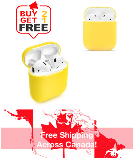 $ CDN5.19 • Buy Silicone Airpods Protective Case Skin Cover For Apple AirPod 1 2