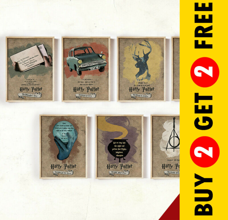 $ CDN5.95 • Buy Harry Potter Quote Posters, Novel Movie Print Options, A3 A4 Size Wall Art Gift