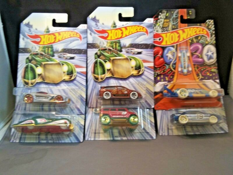 Hot Wheels 2019 Holiday Hot Rods Complete Set Of 6 Exclusive Free Shipping New • 14.39$