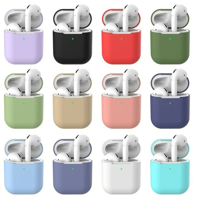 $ CDN3.95 • Buy New Silicone TPU Soft Skin Case For Apple Airpods 1 2 Earphones Charger Cover