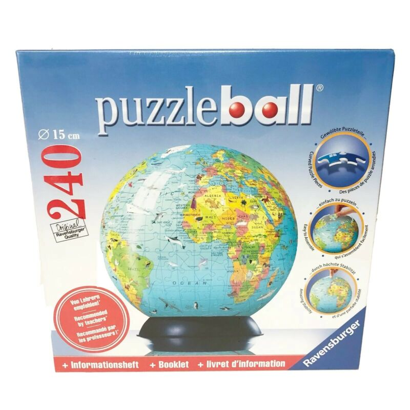 $21.95 • Buy Ravensburger Puzzle Ball Globe And Booklet 240 Piece