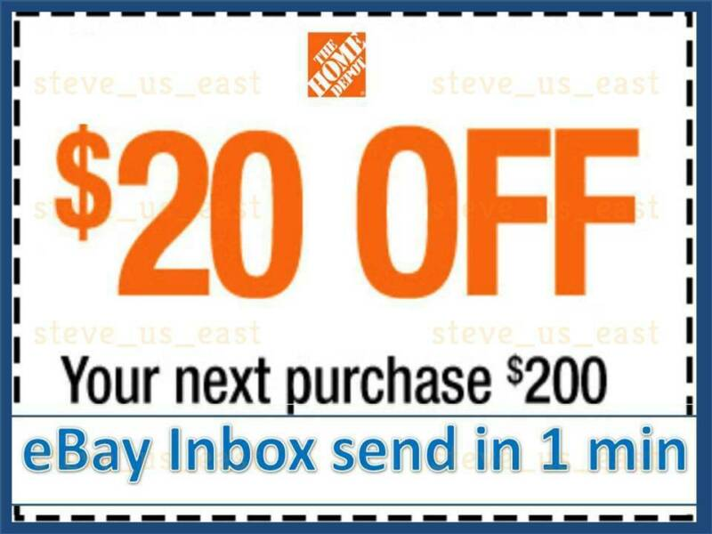 $5.98 • Buy THREE 3x Home Depot Coupon $20 OFF $200 In-Store-Only---lNSTANT DELIVERY-NOW