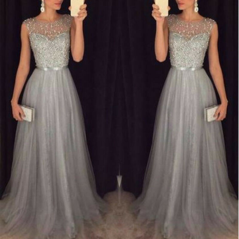 AU23.99 • Buy Party Wedding Women Long Dress Ball Cocktail Gown Formal Evening Prom Bridesmaid