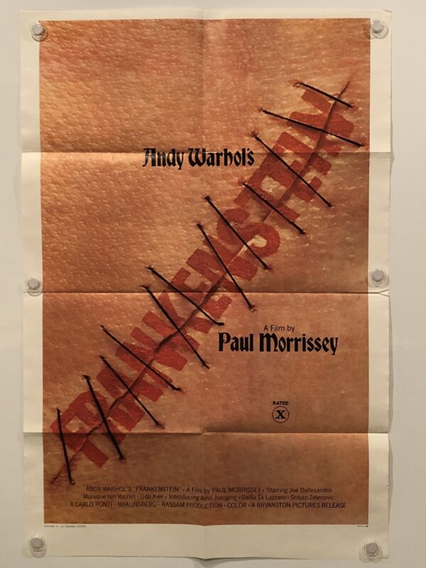 $145 • Buy ANDY WARHOL'S FRANKENSTEIN Original One Sheet SS/Folded Movie Poster - 1974