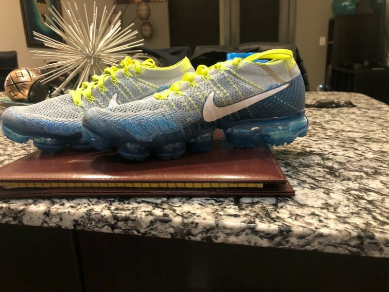 $89 • Buy New Nike Air Vapormax Flyknit Sprite  849558 022 Size 10 Pre Owned