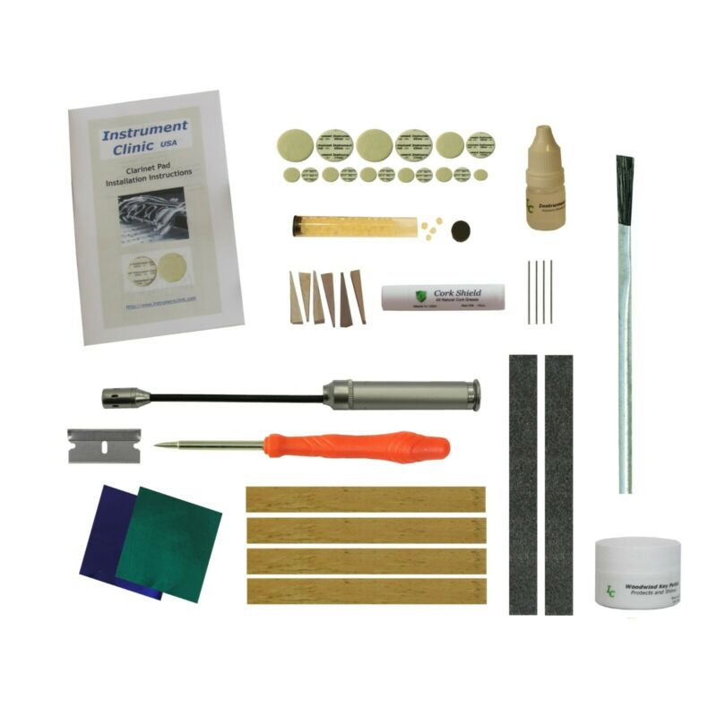 $29.99 • Buy Clarinet Pad / Cork Kit, Set For Your Bb Clarinet, W/ Leak Light, USA Made Pads!