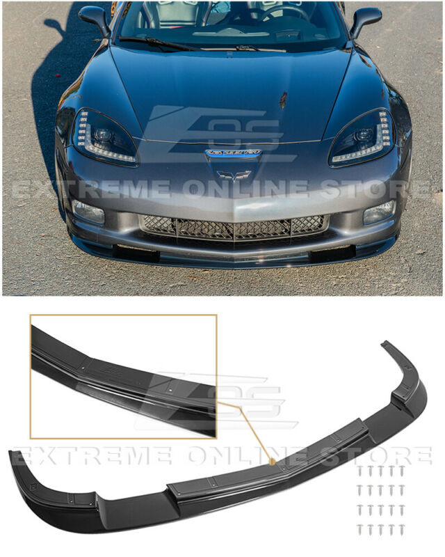 For 05-13 Corvette C6 Z06 ZR1 Style CARBON FLASH Metallic Front Splitter Lip • 209.99$