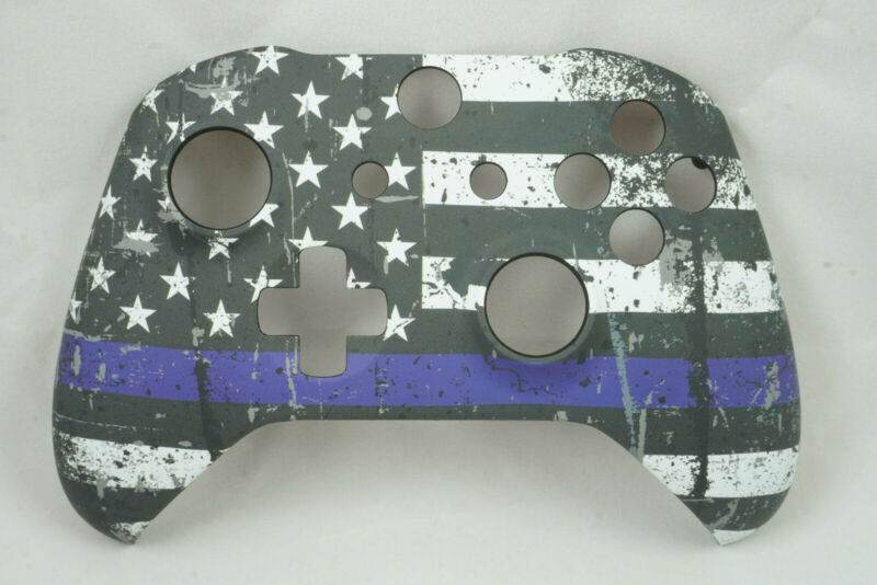 Blue Stripe Flag Soft Touch Front Shell For Xbox One S Controller New Model 1708 • 15.99$