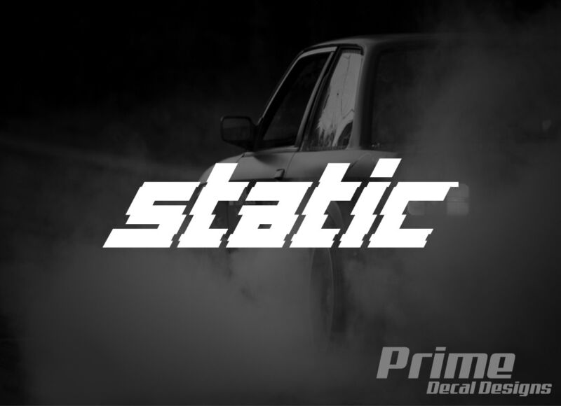 $4.50 • Buy STATIC Slammed Lowered Stance Drift EURO JDM Car Wall Window Vinyl Decal Sticker