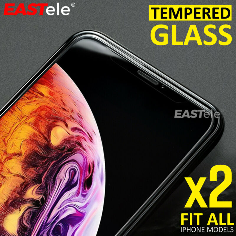 AU4.29 • Buy 2x EASTele Apple IPhone 8 Plus 7 11 Pro XS Max Tempered Glass Screen Protector