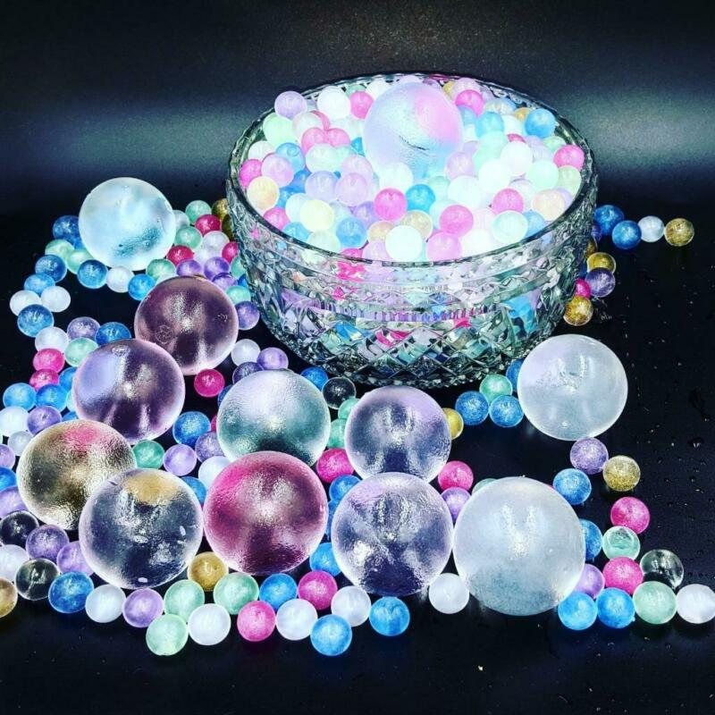 AU4.95 • Buy 25,50,100 Stunning GIANT Metallic Glitter Gel Ball Orbeez Water Beads Waterbeads