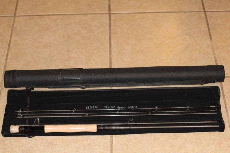 $79.99 • Buy Hmr 9' 8/9 Wt 4 Piece Travel Fly Fishing Rod With Case + Spare Tip Brand New