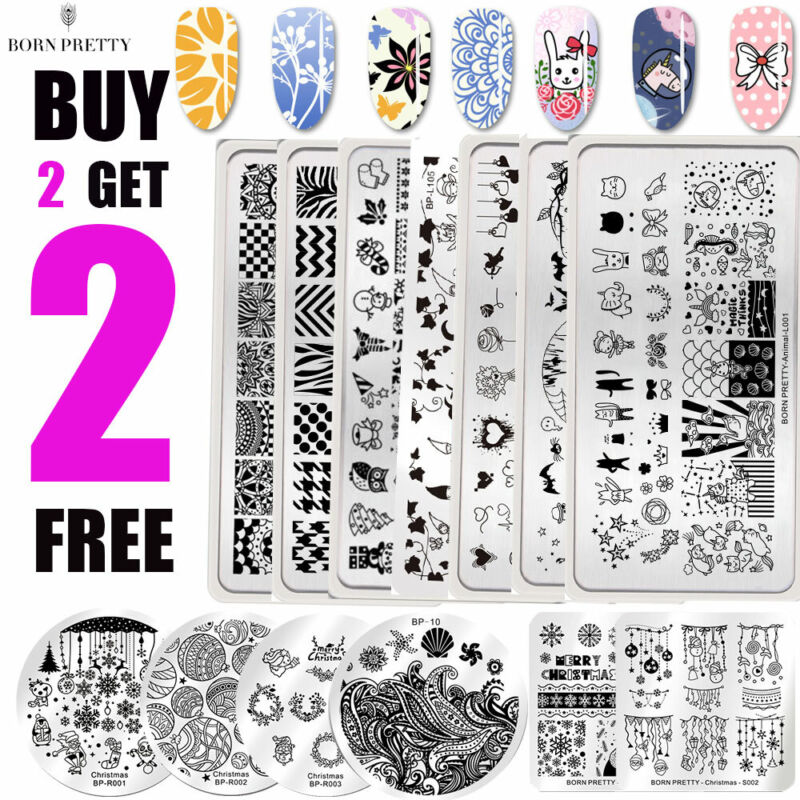 $1.39 • Buy BORN PRETTY Spring Summer Nail Art Stamping Plates Image Stamp Templates Tool