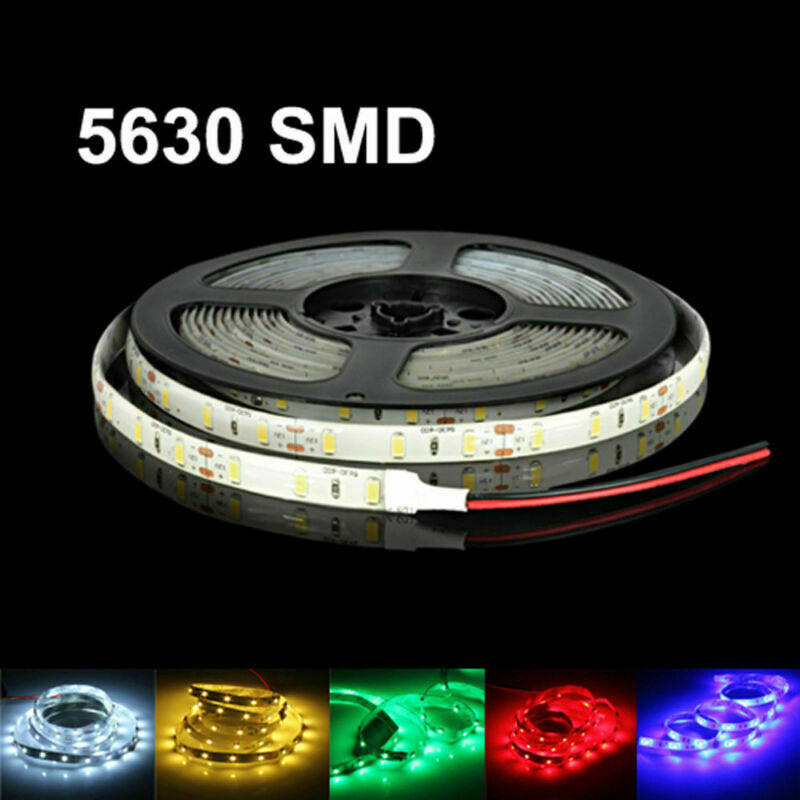 16ft 5630 Super Bright Waterproof 300 LED Strip Light DC12V 6A W/3M Tape Lamp US • 5.63$