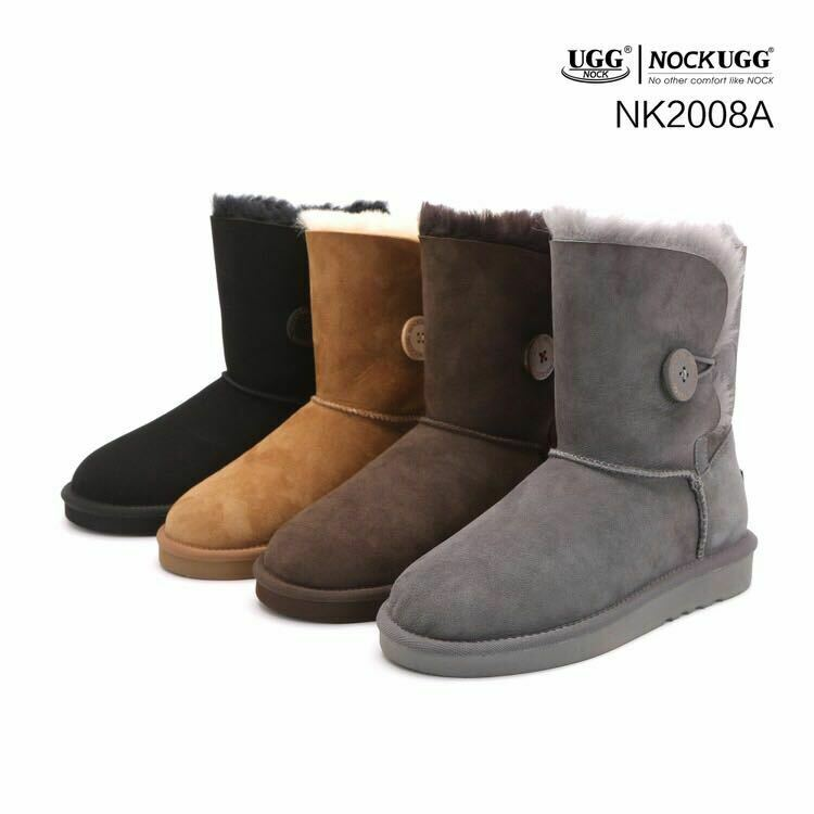 AU69.95 • Buy UGG Women Short Classic Button Boots -Australian Premium Sheepskin Wool Non-Slip