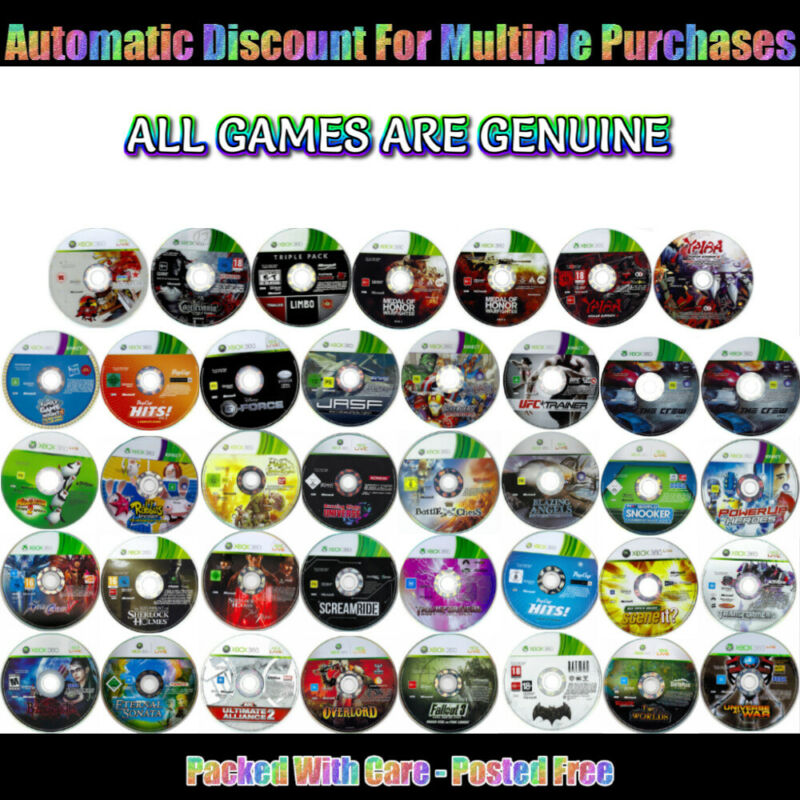 💚 XBOX 360 🔹  GENTLY PRE-OWNED GAMES - DISC ONLY 🔹 Your Choice 12/12/19 • 8AU