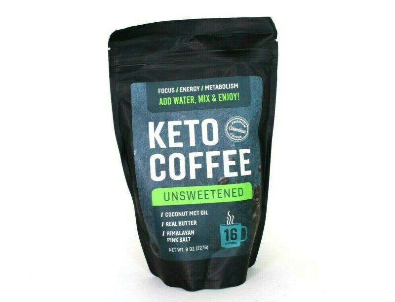 $18.95 • Buy Keto Coffee Unsweetened Premium Colombian Coconut MCT Oil, Himalayan Pink Salt