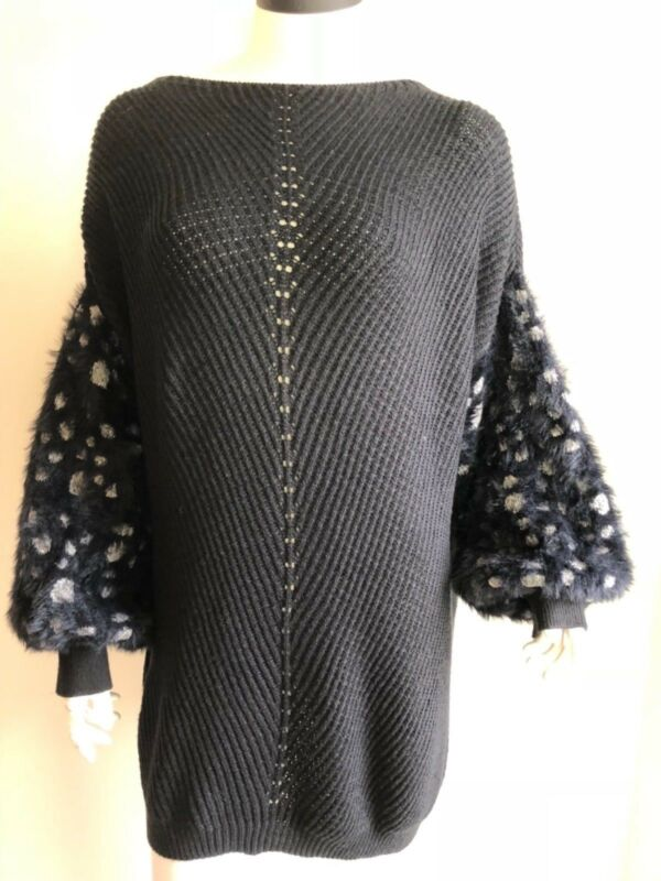 $ CDN39.99 • Buy New Anthropologie Knitted & Knotted Soft Sleeved Jumper Oversize Sweater XL READ